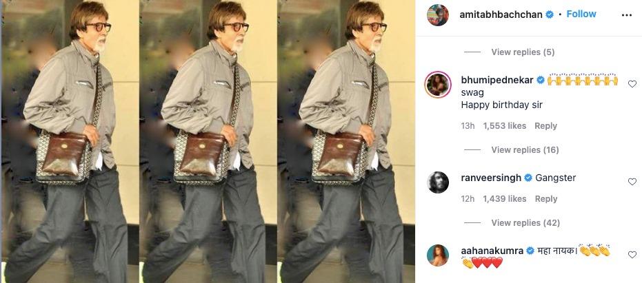 Amitabh Bachchan's Instagram Post Screenshot