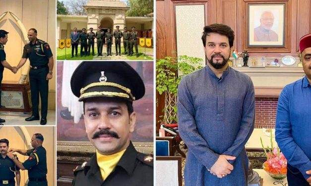 BJP MP Anurag Thakur becomes first MP to be appointed as Captain in Territorial Army