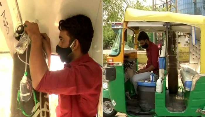 Bhopal Auto-Driver winning the internet for his humanity amid the COVID-19 surge: converts his auto to 24X7 auto-ambulance
