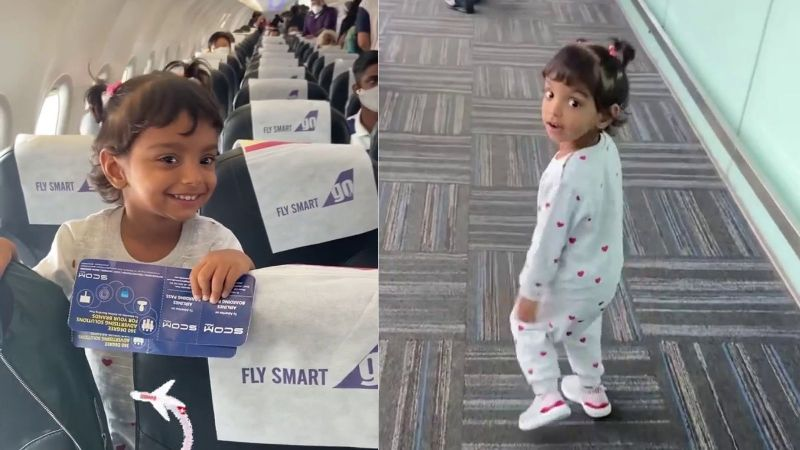"""""""First Flight with Papa"""": Little Girl's Reaction on Seeing Pilot Father on Same Flight is Awwdorable"""