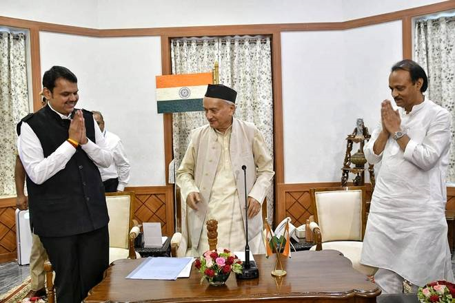 Devendra Fadnavis (BJP) Becomes CM, Ajit Pawar (NCP) Deputy CM, While ShivSena-Congress Cries