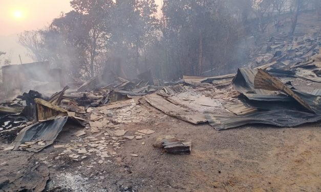 Beyond 48 hours of Extensive Forest Fire in the Hills of South Mizoram