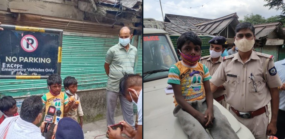Five-year-old police mascot! Viral boy from Dharamshala gets praised by the netizens!