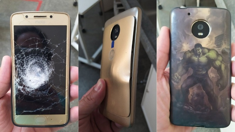 """""""Hulk"""" Phone Cover Saves Man from Bullet During Armed Robbery"""