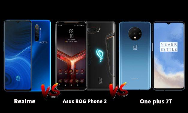 Realme X2 Pro VS OnePlus 7T Pro VS Asus ROG 2. Will OnePlus 7T Win?