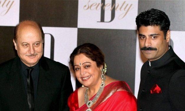Kirron Kher, undergoing cancer treatment, makes appearance in son Sikandar Kher's video alongside Anupam Kher