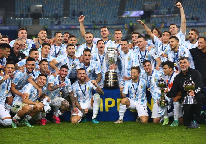 Messi-led Argentina Defeats Brazil 1-0 to Win Copa America 2021; End 28-Year Drought