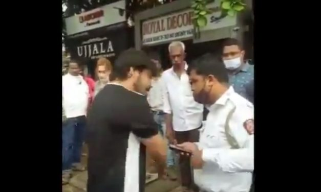 Caught On Cam: Man first Threatens Thane Cop, Cries Apologetically When Justice is Served