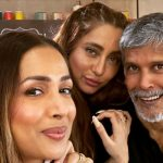 Milind Soman, Malaika Arora Pose for a Fab Selfie from Supermodel of the Year 2 Sets
