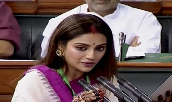 TMC MP Nusrat Jahan Cites Marriage with Nikhil Jain Invalid; BJP rival Yash Dasgupta trends