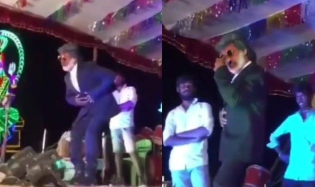 Caught in Cam! Rajinikanth Duplicate Tries to Mimic Stunt, Fails Miserably in Viral Video