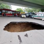 Road Caves in Under Delhi Flyover Due to Rains, Hole About 10-15ft Stops Traffic