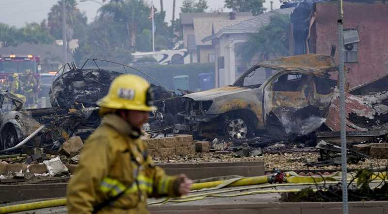 """""""Pretty Brutal Scene"""": Indian-Origin Man Dies After Plane Crashes into Southern California Homes"""