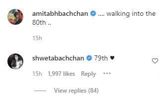 Shweta Correct's Sr. Bachchan on his Birthday