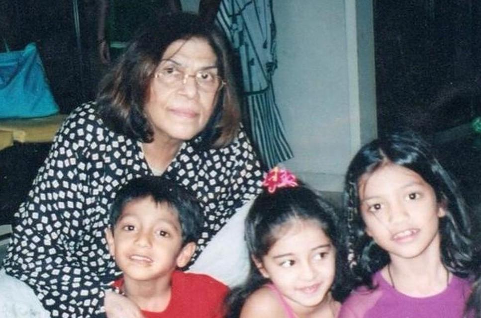Actress Ananya Panday's Grandmother Snehlata Panday succumb to death at the age of 85
