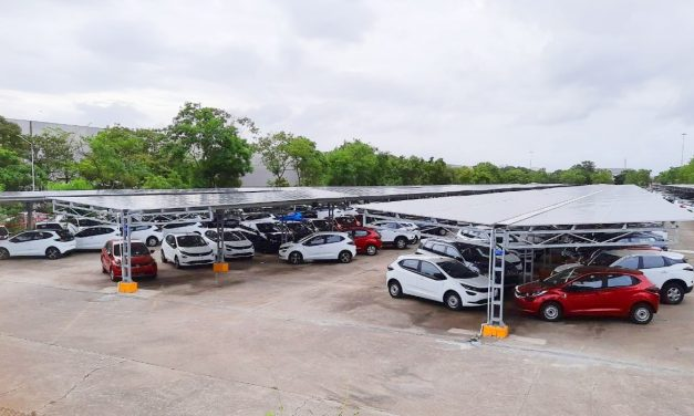 India's biggest Solar Carport launched jointly by Tata motors and Tata power in Pune