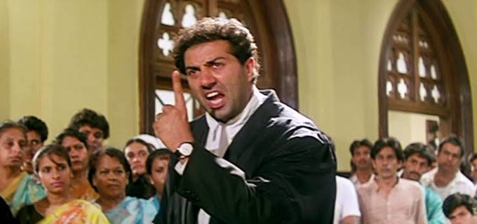 "Man Shouts Sunny Deol's ""Tareekh pe Tareekh"" Dialogue and Vandalizes Delhi Court"