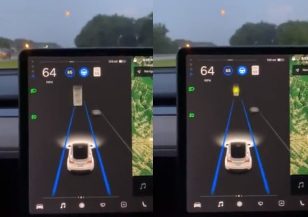 Tesla's Autopilot System Confuses Yellow Moon as Yellow Traffic Light!