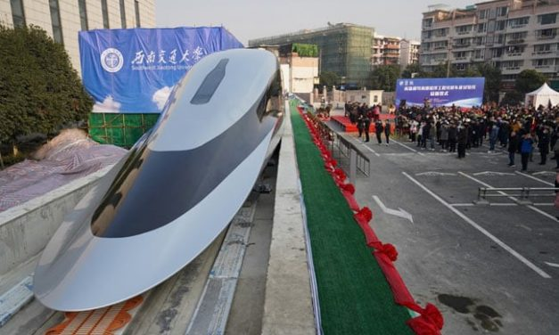 China unveils futuristic maglev train with top speed of 620 km per hour