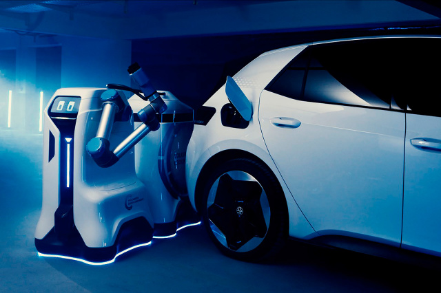 VW Introduces Prototype for its Cute Electric Car Charger Robot