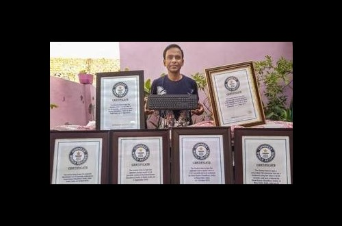 JNU Computer Operator Vinod Kumar Chaudhary has 9 Guinness World Records to His Name