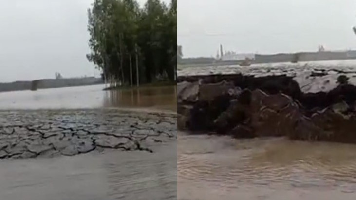 Viral Video of Land Rising Above Water in Haryana Leaves Netizens Shocked and Speculating