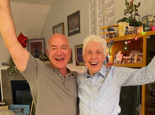 82-year-old Wally all set to accompany Jeff Bezos to the space in the 'New Shepard'