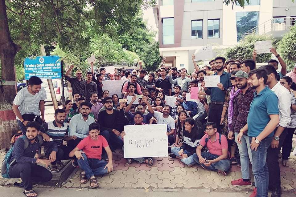 Thousands of CA Students Protest against ICAI's Checking & Evaluation System. National Level Faculties Extended Support.