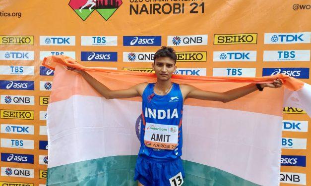 Amit Khatri Wins Silver for India in U-20 World Athletics Meet Championship