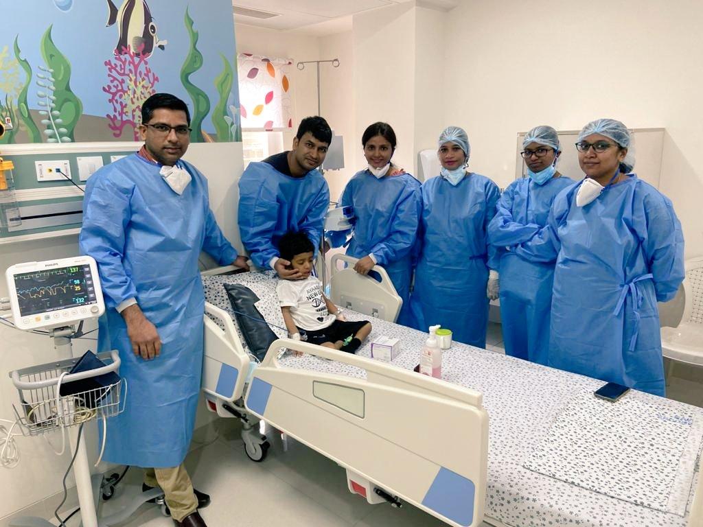 Ayaansh with doctors
