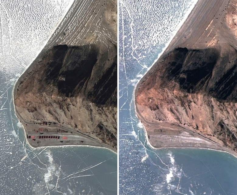 Before-After satellite images reveal China evacuating border by dismantling structures along LAC