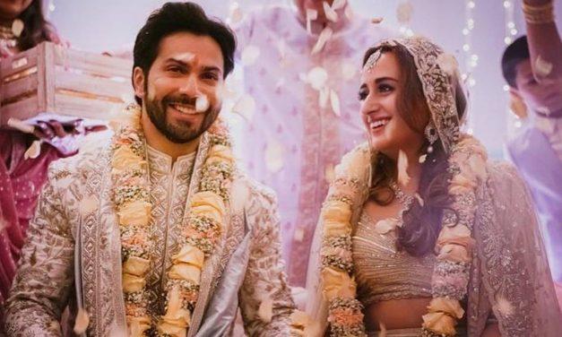 Varun Dhawan and Natasha Dalal married in Alibaug on 24th January
