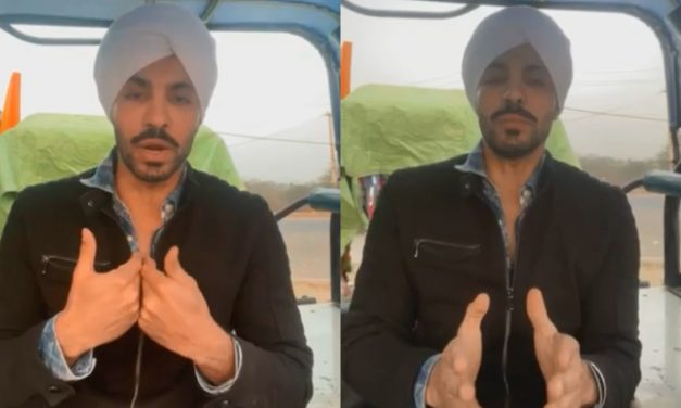 Is there a connection between the flag bearer at Red Fort, Deep Sidhu and BJP ?