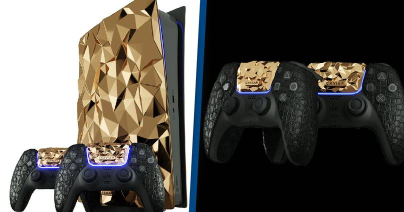 PS5 With 18-Carat Gold Plating Released By Caviar, Only One Piece Available Worldwide