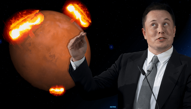 Elon Musk wants to bombard Mars with Nuclear Missiles. He is even selling T-shirts about it.