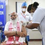 Prime Minister Modi gets vaccinated; Co-WIN app glitches: COVID Vaccination drive