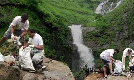 Mumbai's Environmental Activists Removed 10,000 Kg Of Garbage From 16 Waterfalls Around The City.