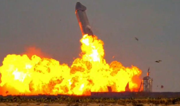 SpaceX's futuristic Starship SN10 aces touch down and explodes after landing