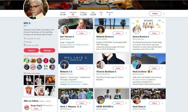 This is why KFC follows only 11 people on twitter. What a brilliant marketing mind.