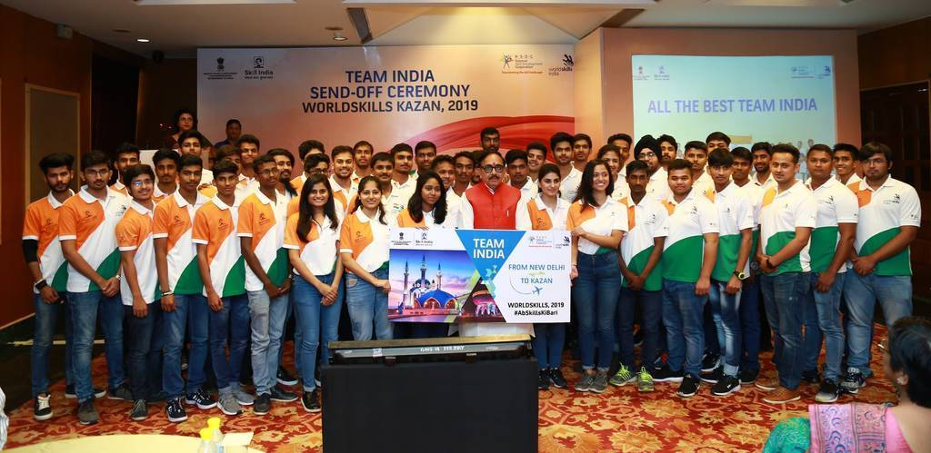 48 Skilled Youngsters to represent India in the World Skills Competition 2019 in Kaza, Russia