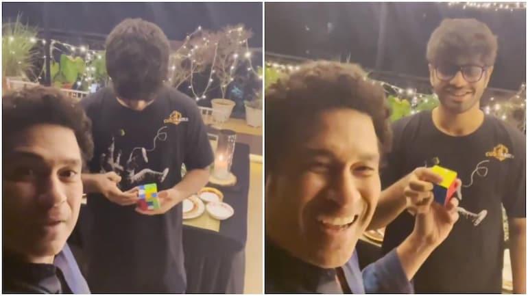 Sachin Tendulkar shares a video of a Mumbai Boy solving Rubik's Cube without looking